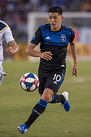 STANFORD, CA - JUNE 29: Cristian Espinosa #10 during a Major League Soccer (MLS) match between the San Jose Earthquakes and the LA Galaxy on June 29, 2019 at Stanford Stadium in Stanford, California.