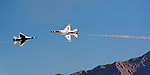 The Thunderbirds air show at Nellis Air Force Base, Las Vegas, Nevada.