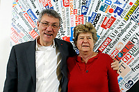Maurizio Landini, secretary of CGIL and Susanna Camusso, outgoing secretary<br /> Rome February 8th 2019. Press conference of the newly elected secretary of CGIL trade union, the biggest syndicate in Italy.<br /> Foto Samantha Zucchi Insidefoto