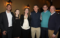 NWA Democrat-Gazette/CARIN SCHOPPMEYER Chris Boling and Stephanie Jones (from left), Julie and Keith Barber, Isaac Cody and Jeff Shipley gather at the Heart Ball Reveal Party on March 30 at The Grand on 117 in Rogers. Julie is honorary chairwoman of the  Heart Ball Lip Sync Battle.