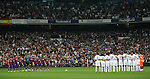 MADRID (10/04/2010).- Spanish League match Real Madrid vs Barcelona. Minute of silence to honour Polonia president and victims of accident...Photo Cesar Cebolla / ALFAQUI