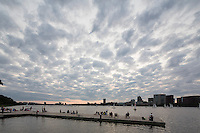 clouds before sunset, Esplanade, Boston, MA