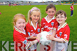 Enjoying the Cul Camp in Castlegregory on Thursday in the local GAA field were: Katie Crean, Anne Roberts, Lucey Finn and Maire Flynn.