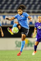 Orlando, FL - Saturday September 10, 2016: Raquel Rodriguez during a regular season National Women's Soccer League (NWSL) match between the Orlando Pride and Sky Blue FC at Camping World Stadium.