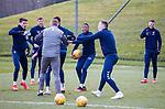 06.03.2020: Rangers training: Ianis Hagi, Borna Barisic, Tom Culshaw, Connor Goldson, Joe Aribo, George Edmundson and Florian Kamberi