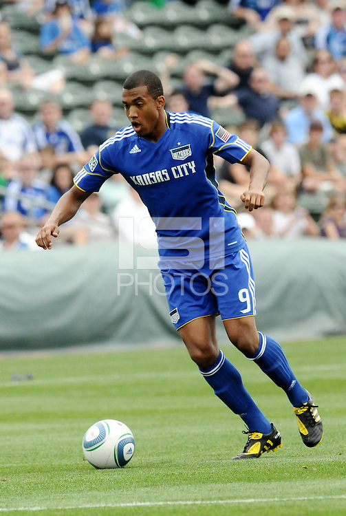 Teal Bunbury...Kansas City Wizards were defeated 1-0 by Columbus Crew at Community America Ballpark, Kansas City, Kansas.