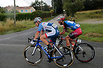 Mountains Jersey leader Loic Chetout (FRA) Cofidis and Angelo Tulik (FRA) Team Total Direct Energie in the breakaway during Stage 2 of the Route d'Occitanie 2019, running 187.7km from Labruguière to Martres-Tolosane, France. 21st June 2019<br /> Picture: Colin Flockton | Cyclefile<br /> All photos usage must carry mandatory copyright credit (© Cyclefile | Colin Flockton)
