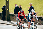 Lizzie Deignan (GBR) Trek-Segafredo Women in action during a very wet 2019 Liège-Bastogne-Liège Femmes, running 138.5km from Bastogne to Liege, Belgium. 28th April 2019<br /> Picture: ASO/Thomas Maheux | Cyclefile<br /> All photos usage must carry mandatory copyright credit (© Cyclefile | ASO/Thomas Maheux)