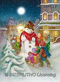CHRISTMAS SANTA, SNOWMAN, WEIHNACHTSMÄNNER, SCHNEEMÄNNER, PAPÁ NOEL, MUÑECOS DE NIEVE, paintings+++++,KL2156/1V,#X#