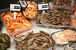 Fresh local fish on sale in ice, Gibraltar, British terroritory in southern Europe