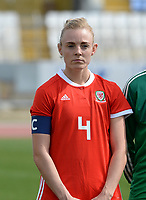 20180302 - LARNACA , CYPRUS : Welsh Sophie Ingle pictured during a women's soccer game between Italy and Wales , on friday 2 March 2018 at GSZ Stadium in Larnaca , Cyprus . This is the second game in group A for Italy and Wales during the Cyprus Womens Cup , a prestigious women soccer tournament as a preparation on the World Cup 2019 qualification duels. PHOTO SPORTPIX.BE | DAVID CATRY