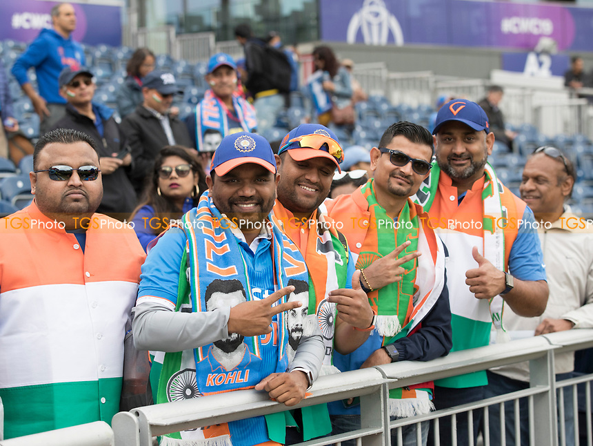 Indian fans at Edgbaston during India vs New Zealand, ICC World Cup Semi-Final Cricket at Old Trafford on 9th July 2019