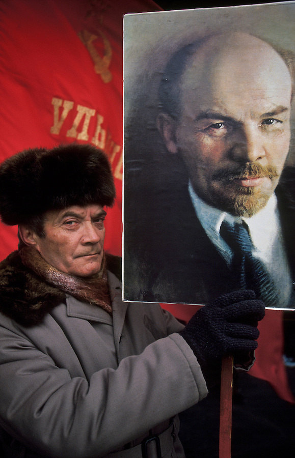 Ulyanovsk, Urals Region, central  Russia, 1994..The birthplace of Vladiimr Lenin, founder of the Soviet Union, remains true to his Communist ideals. There is little private ownership, and all city industry and local agriculture is controlled by the state.