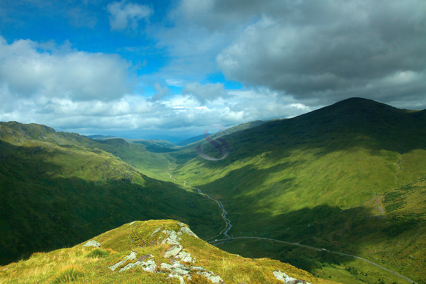 Glen Kinglas from Beinn an Lochain, the Arrochar Alps, Argyll & Bute