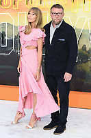 "LONDON, UK. July 30, 2019: Jacqui Ritchie & Guy Ritchie at the UK premiere for ""Once Upon A Time In Hollywood"" in Leicester Square, London.<br /> Picture: Steve Vas/Featureflash"