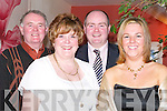 GOOD TIME: Enjoying the Causeway GAA Social at Ballyroe Heights Hotel, Tralee, on Friday night, l-r: Noel, Eileen and Noel O'Connor (Jnr) and Joanne McDonnell (Tralee)..