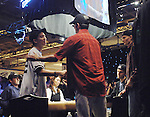 Paul Wasicka, r, shakes the hand  of Douglas Kim, after knocking Kim out.