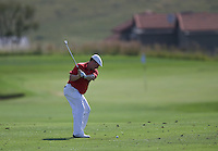 Chris Doak (SCO) plays second shot to the 1st during Round Two of The Tshwane Open 2014 at the Els (Copperleaf) Golf Club, City of Tshwane, Pretoria, South Africa. Picture:  David Lloyd / www.golffile.ie