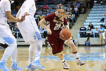 01 February 2015: Boston College's Martina Mosetti (ITA). The University of North Carolina Tar Heels hosted the Boston College Eagles at Carmichael Arena in Chapel Hill, North Carolina in a 2014-15 NCAA Division I Women's Basketball game. UNC won the game 72-60.