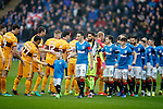 Rangers and Motherwell shake hands before locking in combat
