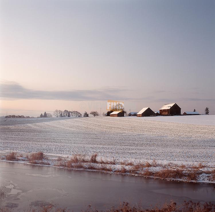 Farmland in the Winter