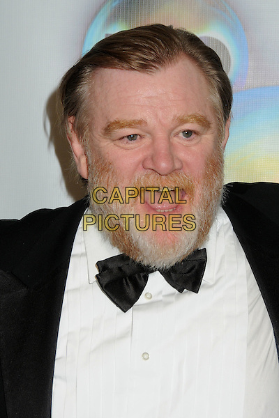 Brendan Gleeson.HBO 2012 Golden Globe Awards Post Party held at Circa 55 Restaurant, Beverly Hills, California, USA..January 15th, 2012.headshot portrait black white tuxedo bow tie beard facial hair mouth open.CAP/ADM/BP.©Byron Purvis/AdMedia/Capital Pictures.
