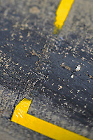 Verizon IndyCar Series<br /> Indianapolis 500 Practice<br /> Indianapolis Motor Speedway, Indianapolis, IN USA<br /> Tuesday 16 May 2017<br /> Burned rubber<br /> World Copyright: F. Peirce Williams