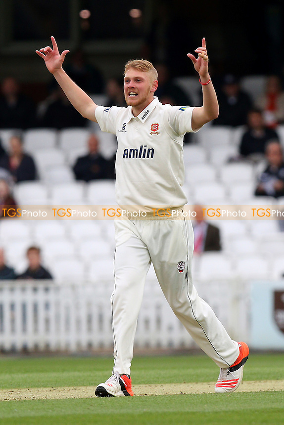 Jamie Porter of Essex successfully appeals for the wicket of Zafar Ansari - Surrey CCC vs Essex CCC - LV County Championship Division Two Cricket at the Kia Oval, Kennington, London - 26/04/15 - MANDATORY CREDIT: Gavin Ellis/TGSPHOTO - Self billing applies where appropriate - contact@tgsphoto.co.uk - NO UNPAID USE