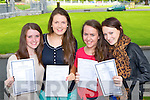 Killarney Presentation girls Ailis Wilson, Emma Murphy, Alison Shaw and Tracy Fleming all Killarney celebrate after receiving their Leaving Cert results on Wednesday morning