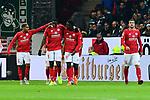 Tor Jubel f&uuml;r das 1:0 vom Mainzer Jean-Philippe Mateta<br />  beim Spiel in der Fussball Bundesliga, 1. FSV Mainz 05 - Werder Bremen.<br /> <br /> Foto &copy; PIX-Sportfotos *** Foto ist honorarpflichtig! *** Auf Anfrage in hoeherer Qualitaet/Aufloesung. Belegexemplar erbeten. Veroeffentlichung ausschliesslich fuer journalistisch-publizistische Zwecke. For editorial use only.
