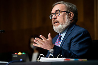 Andrew Wheeler, Administrator, United States Environmental Protection Agency (EPA), speaks during a US Senate Environment and Public Works Committee hearing, on Capitol Hill in Washington, D.C., U.S., on Wednesday, May 20, 2020. <br /> Credit: Al Drago / Pool via CNP/AdMedia