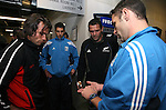 The referee shows Canadian captain Morgan Williams (left) and NZ capatin Reuben Thorne the coin before the toss before the Iveco rugby union international test match between the All Blacks and Canada at Waikato Stadium, Hamilton, New Zealand on Saturday 16 June 2007. The All Blacks won the match 64 - 13.