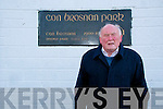 Former great Kerry footballer Jerry Brosnan Of Moyvane pictured outsde  Con Brosnan Park in Moyvane.