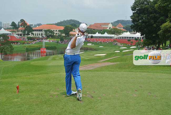 Sergio Garcia (ESP) on the 14th tee during Round 4 of the CIMB Classic in the Kuala Lumpur Golf &amp; Country Club on Sunday 2nd November 2014.<br /> Picture:  Thos Caffrey / www.golffile.ie