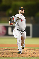 Surprise Saguaros pitcher Robby Scott (32) during an Arizona Fall League game against the Glendale Desert Dogs on October 9, 2014 at Camelback Ranch in Phoenix, Arizona.  Surprise defeated Glendale 7-4.  (Mike Janes/Four Seam Images)
