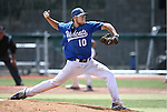 Western Nevada's Josh Mill pitches against Utah State University Eastern at WNC in Carson City, Nev., on Friday, April 29, 2016.<br /> Photo by Cathleen Allison