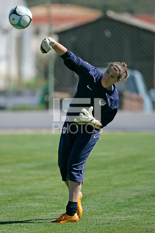 Nicole Barnhart in action during their practice session at Montechoro Hotel soccer fields during Algarve Women´s Soccer Cup 2008 in Albufeira, Portugal on March 06, 2008. Paulo Cordeiro/isiphotos.com