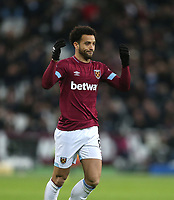 West Ham United's Felipe Anderson<br /> <br /> Photographer Rob Newell/CameraSport<br /> <br /> The Premier League - West Ham United v Brighton and Hove Albion - Wednesday 2nd January 2019 - London Stadium - London<br /> <br /> World Copyright &copy; 2019 CameraSport. All rights reserved. 43 Linden Ave. Countesthorpe. Leicester. England. LE8 5PG - Tel: +44 (0) 116 277 4147 - admin@camerasport.com - www.camerasport.com