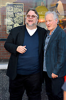LOS ANGELES, USA. August 06, 2019: Guillermo del Toro & director Michael Mann at the Hollywood Walk of Fame star ceremony honoring director Guillermo del Toro.<br /> Picture: Paul Smith/Featureflash