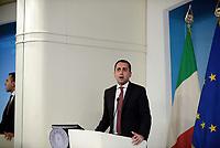 Roma, 3 Luglio 2018<br />  Il Ministro del Lavoro Luigi Di Maio.<br /> Presentazione alla stampa del Decreto Dignit&agrave; varato dal Governo