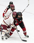 Ryan Little (BC - 20), Haley McLean (BC - 13), Lauren Kelly (NU - 2) -  The Boston College Eagles defeated the Northeastern University Huskies 2-1 in overtime to win the 2017 Hockey East championship on Sunday, March 5, 2017, at Walter Brown Arena in Boston, Massachusetts.