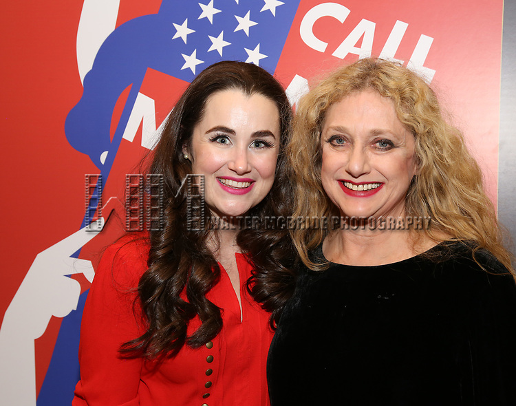 """Lauren Worsham and Carol Kane attends the closing Night performance reception for Encores! """"Call Me Madam"""" at City Center on February 10, 2019 in New York City."""