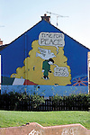 Murals painted by the Catholic community in Belfast, Northern Ireland.
