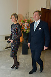King Willem-Alexander and Queen Maxima from Netherland during the opening concert van the Netherland for the Presidency of the Council of the European Union.<br /> Pics: Queen Maxima and King Willem Alexander,  22 january 2016, Belgium
