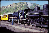 D&amp;RGW #473 K-28 hauling excursion coaches.<br /> D&amp;RGW  Durango, CO