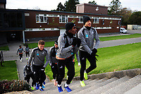 Joel Asoro (left) and Martin Olsson (right) of Swansea City during the Swansea City Training at The Fairwood Training Ground, in Swansea, Wales, UK. Wednesday 02 November 2018