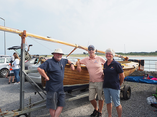 Overall winner Brian McNally from Skerries SC with the winning Mermaid 186 Gentoo and crew Valerie Cronin and Ross Galbraith.