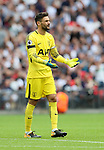 Tottenham's Hugo Lloris looks on dejected during the premier league match at the Wembley Stadium, London. Picture date 20th August 2017. Picture credit should read: David Klein/Sportimage