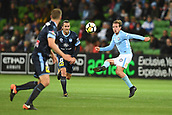 3rd November 2017, Melbourne Rectangular Stadium, Melbourne, Australia; A-League football, Melbourne City FC versus Sydney FC; Nick Fitzgerald of Melbourne City FC kicks the ball towards a team mate