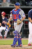 Round Rock Express catcher Kevin Cash #14 in the field during a game versus the Memphis Redbirds at Autozone Park on April 28, 2011 in Memphis, Tennessee.  Memphis defeated Round Rock by the score of 6-5 in ten innings.  Photo By Mike Janes/Four Seam Images